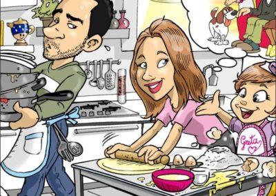 1 caricature-valentino-villanova-famiglia-bambina-regalo-originale