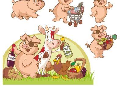 10 mascotte-aziendale-market-maiale-mucca-campagna-frutta-verdura-valentino-villanova