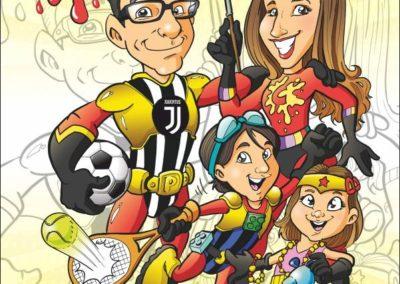 13 caricature-valentino-villanova-famiglia-super-eroi-regalo-originale