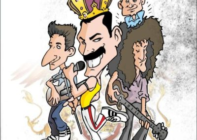 14 caricature-valentino-villanova-queen-freddy-mercury-music-rock