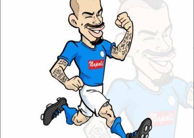2 caricature-valentino-villanova-hamsik-napoli-calcio-gazzetta-dello-sport