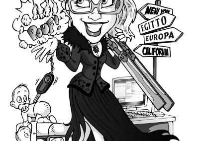 valentino villanova papiro laurea caricature 5