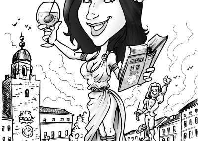 valentino villanova papiro laurea caricature4