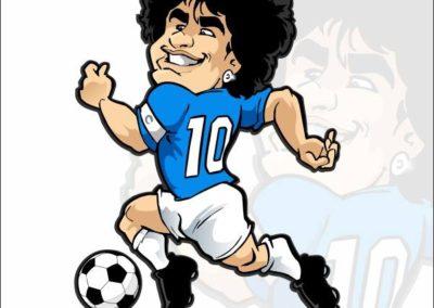 3 caricature-valentino-villanova-maradona-napoli-calcio-gazzetta-dello-sport