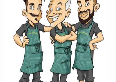 4 caricature-valentino-villanova-azienda-negozio-logo