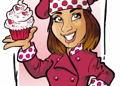 caricatura logo pasteicceria valentino villanova