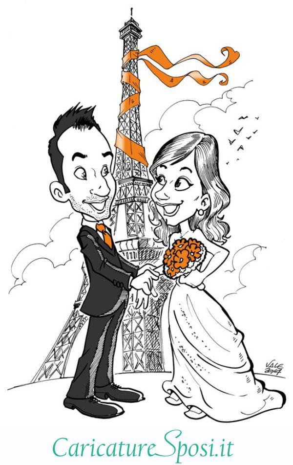 Caricature per sposi valentino villanova for Sposi immagini