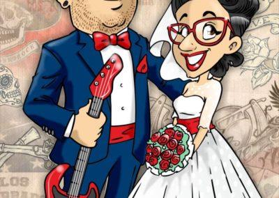 caricatura-sposi-rock-usa-rockabilly-matrimonio-personalizzata_valentino-villanova