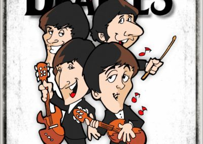 music ROCK BEATLES CARICATURA