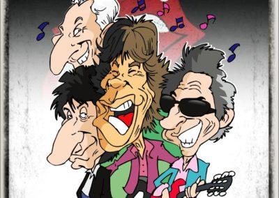 music ROCK ROLLING STONE CARICATURA