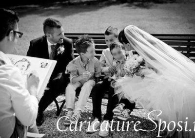 valentino-villanova-caricature-intrattenimento-coppia-bambini-matrimonio