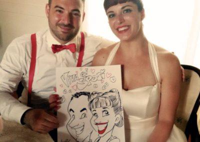 valentino-villanova-caricature-intrattenimento-coppia-vignetta-sposi-rock-matrimonio